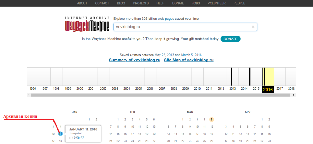 Архивная копия домена